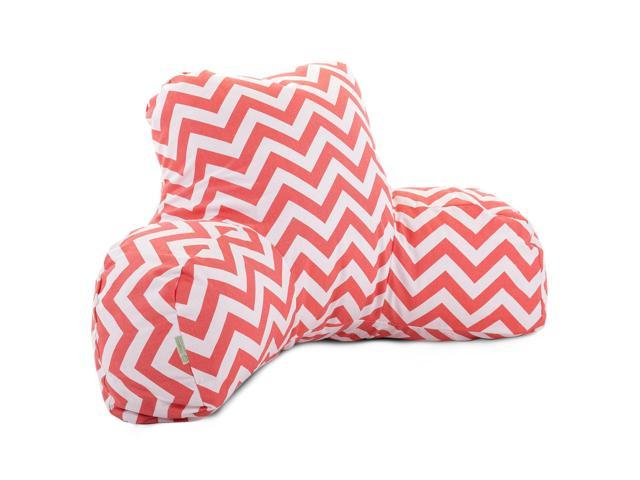 Majestic Home Goods Tiffany Blue Chevron Reading Pillow