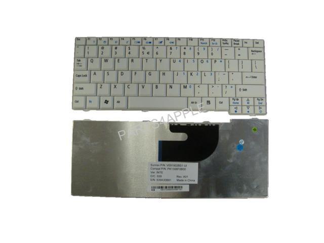 Laptop Keyboard for Acer Aspire One A110 A110X A110L A150 D150 D250 ZG5 ZA8 ZG6 P531 531H P531H 571 571H KAV10 KAV60; AOA110 AOA110L AOA150 AOA150X AOD150 AO531H AOP531H AO571 AO571H White