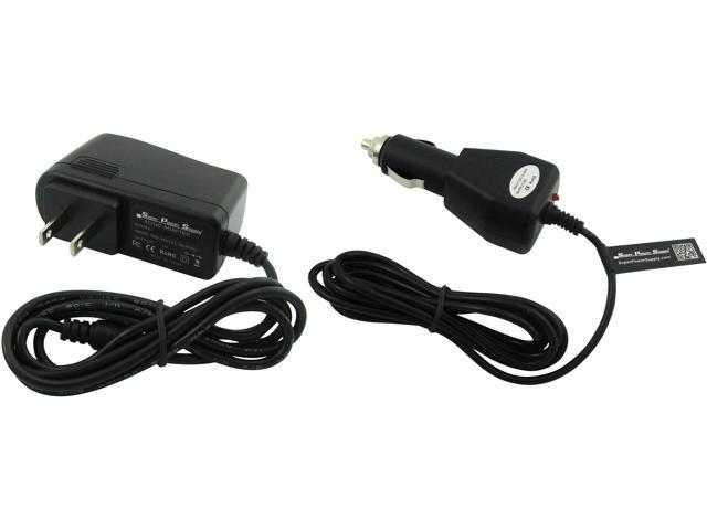 super power supply ac dc adapter cord 2 in 1 combo wall car charger garmin gps portable. Black Bedroom Furniture Sets. Home Design Ideas