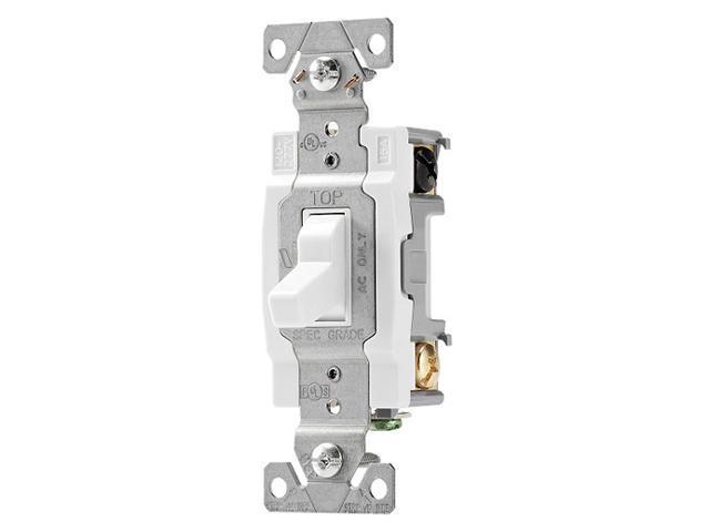 Cooper Wiring  Cs415w  4 Way Toggle Switch  15 Amp  120