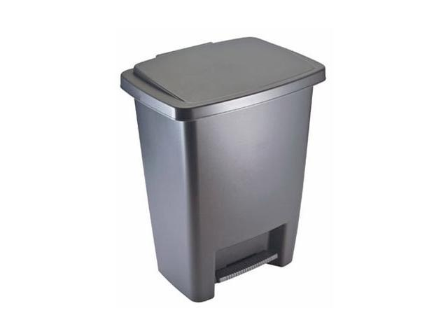 rubbermaid 2841 87 cylind 33 qt step on cylinder gray