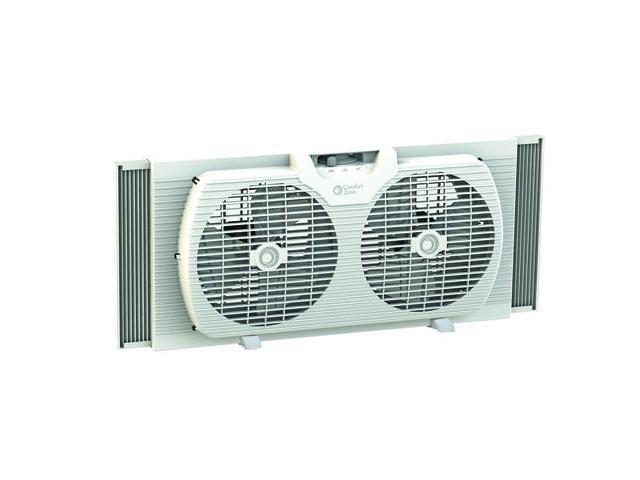 Comfort Zone Box Fan : Comfort zone cz wt white quot portable twin window fan