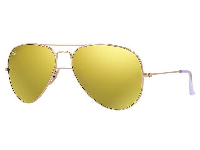 Large Yellow Frame Sunglasses : Ray Ban RB3025 Aviator Flash Lenses Sunglasses - Gold ...