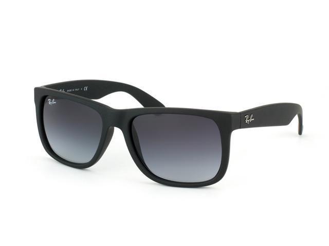 Ray Ban RB4165 Justin Sunglasses - Rubber Black Frame / Gray Gradient Lenses 601/8G (Size 54-16)