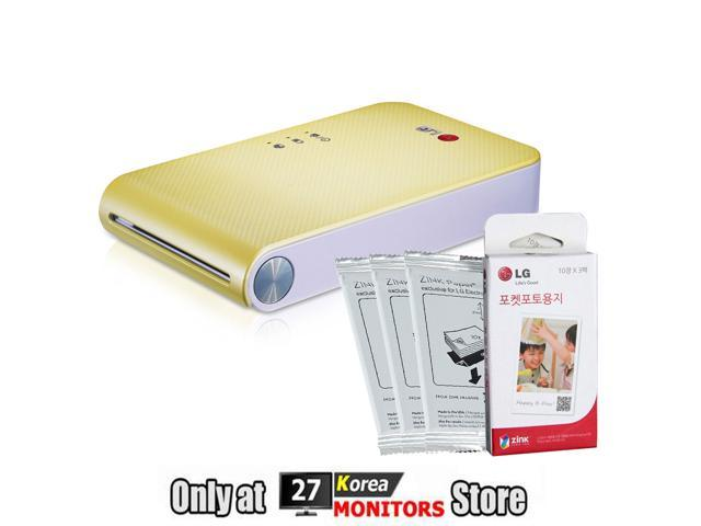 LG PoPo Pocket Photo 2 PD239 Mini Portable Mobile Photo Printer for Android(2.2) iOS(5.1) Yellow Color + 30 Sheets of Zink ...