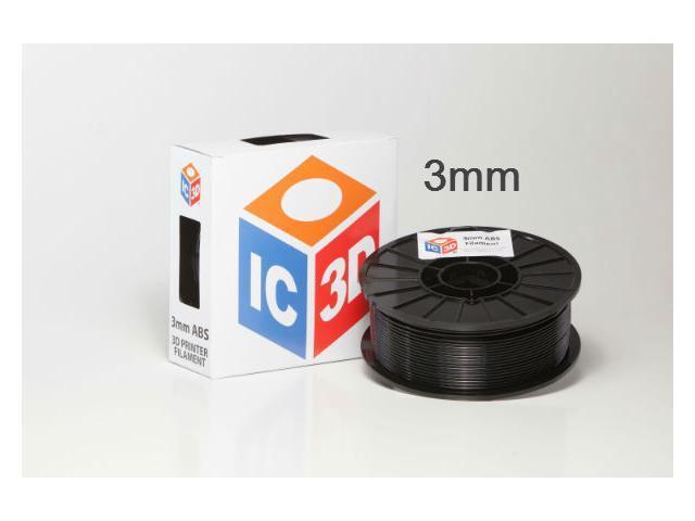 IC3D 3mm ABS 3D Printer Filament 2lb Black