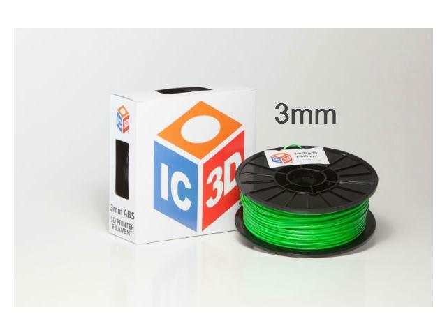 IC3D 3mm ABS 3D Printer Filament 2lb Green - OEM