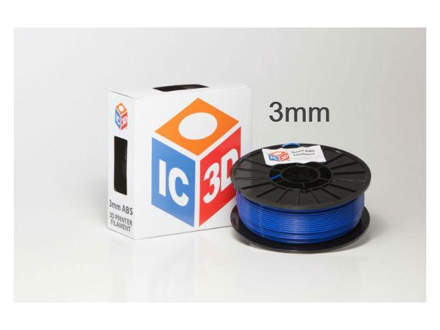 IC3D 3mm ABS 3D Printer Filament 2lb Blue