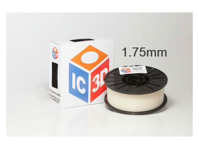 IC3D 1.75mm ABS 3D Printer Filament 2lb Natural - OEM