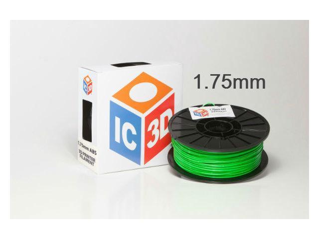 IC3D 1.75mm ABS 3D Printer Filament 2lb Green