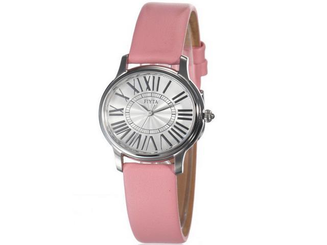 Women's snappy wristwatch -high quality imported quartz Roman numerals dial changeable multi-color leather strap female watch