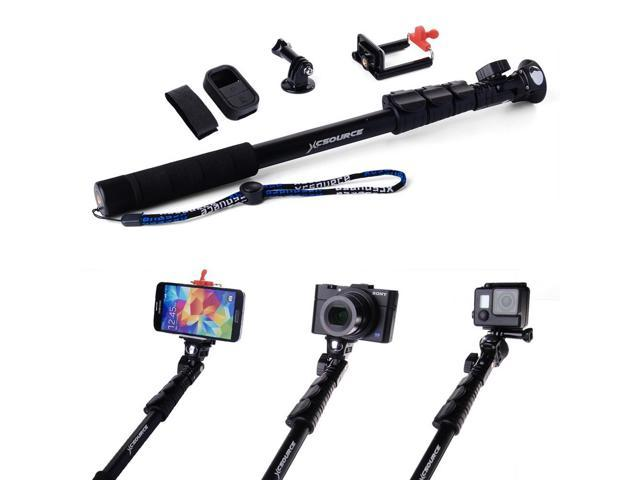 handheld monopod telescopic selfie stick remote case for iphone 5s 6 gopro dc. Black Bedroom Furniture Sets. Home Design Ideas