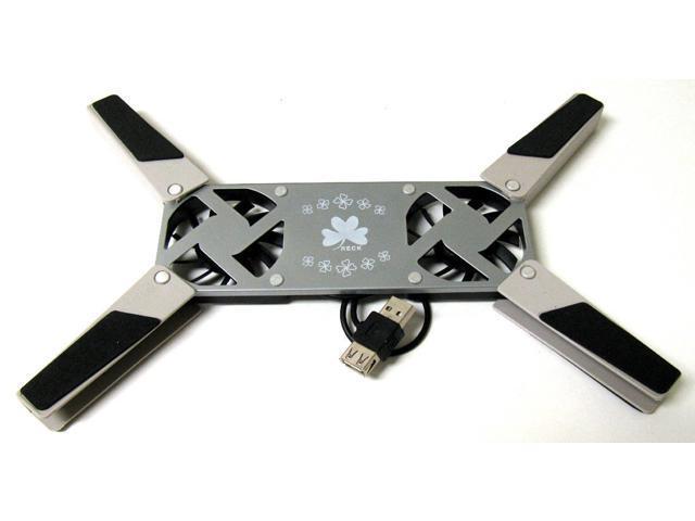 Ptble Notebook Laptop LED USB 2 Fans Cooler COOLING GR