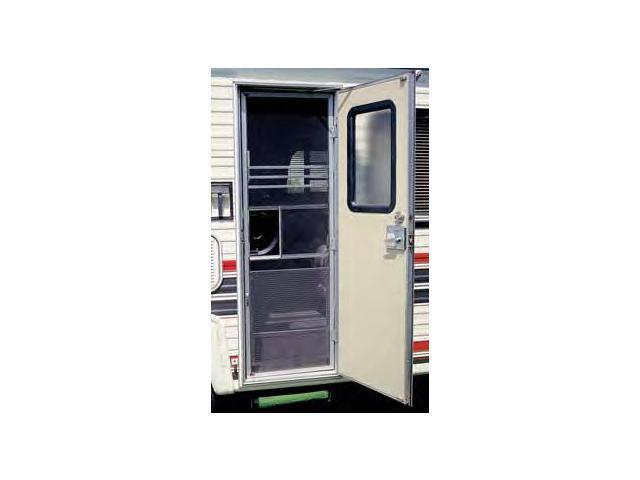camco 43980 rv aluminum screen door standard grille 3