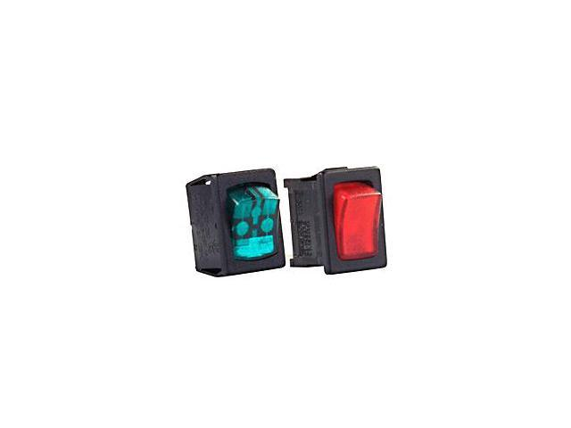 Jr Products 12 Volt Black Red Lamp On/Off Mini 12765