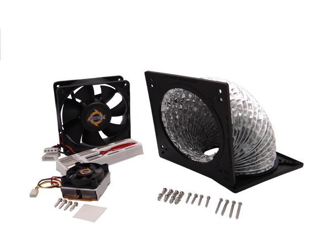 Akust 120mm/135mm/140mm Air Ducting ThermalHood with 120mm Case Fan  and Copper Chipset Cooling Fan Cooler plus 16 in 1 Screwdriver Set