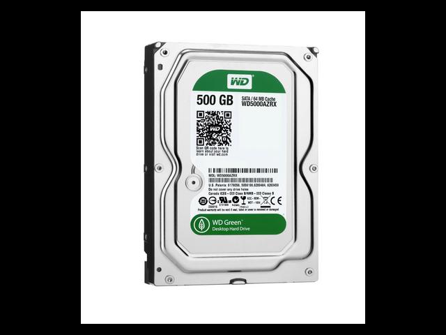 WD Green 500 GB Desktop Hard Drive: 3.5 Inch, SATA III, 64 MB Cache - WD5000AZRX