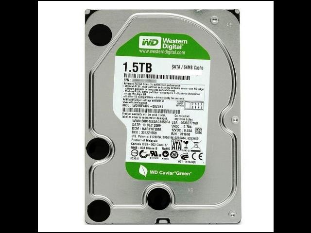 WD Green 1.5 TB Desktop Hard Drive: 3.5 Inch, SATA III, 64 MB Cache - WD15EZRX