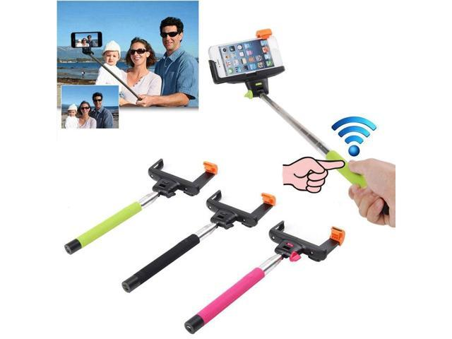 bluetooth shutter extendable handheld selfie stick monopod for iphone 6 plus. Black Bedroom Furniture Sets. Home Design Ideas