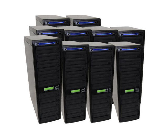 100 Target SATA Daisy Chain 24X Burner DVD CD Duplicator w/500GB HD and USB Connection