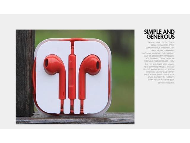 Earphone earbud earpiece Headset remote Mic for  iPhone 6 5 5S 5C 4 4S 3G iPad mini iPod