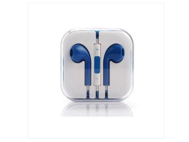 Blue Earphone earbud Headset with remote 3.5mm jack for Apple iPhone 6 5 5S 5C 4 4S 3G  perfect sound