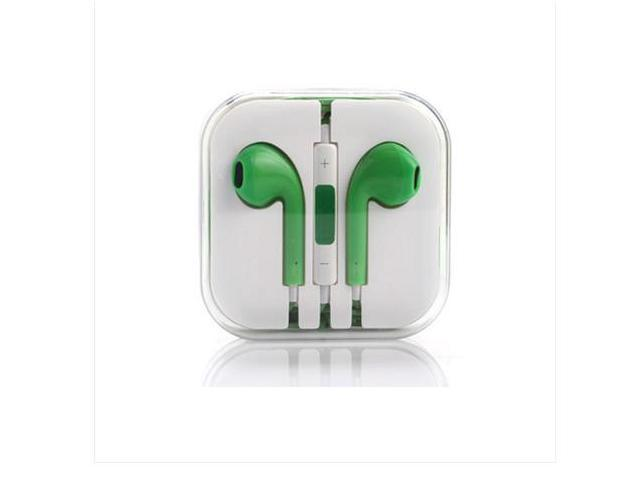 Green Earphone Headset earpods remote 3.5mm for Apple iPhone 6 5 5S 5C 4 4S 3G good quality Earbud Earpiece