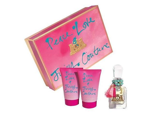 Juicy Couture Peace, Love And Juicy Couture Gift Set - edp-bl-sg