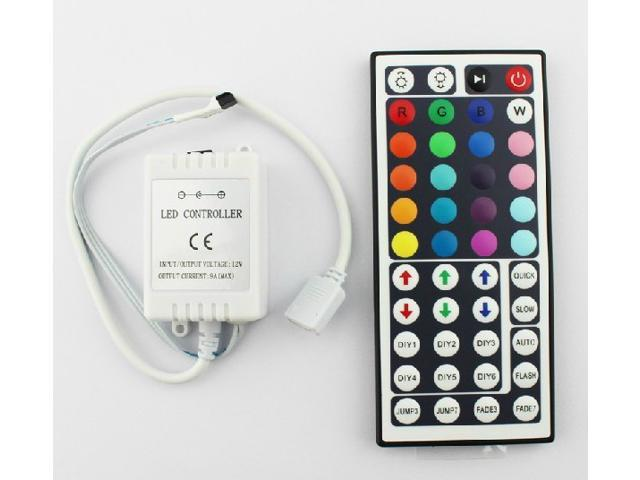 SUPERNIGH 44 key Button Wireless Controller IR Remote 12 V 20 Color RGB LED Light Strip Lamp