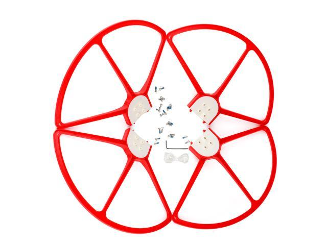 SuperNight® Red Color, 4pcs Plastic Prop Guards Propellers Protectors Blades Frame For DJI Phantom 1 2 3 RC Quadcopter Spare Part Replacement