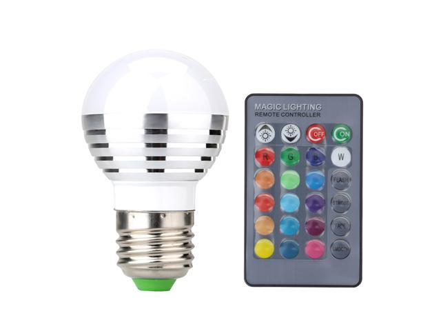 SUPERNIGHT E27 3W RGB LED Light Bulb Lamp Lighting Multi Color Changing Spotlight Dimmable Light Bulb Lamp Lighting Home with IR Remote Control