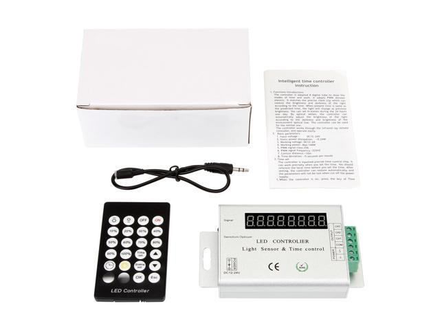 SUPERNIGHT 24Key Light Sensor Time Remote Controller Dimmer for 3528 5050 RGB Led Strip Light Lamp