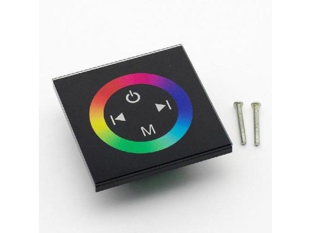 SUPERNIGHT Touch Panel Full-color Slippy Dimmer Controller 3 channel for RGB LED Strip Light DC 12-24V