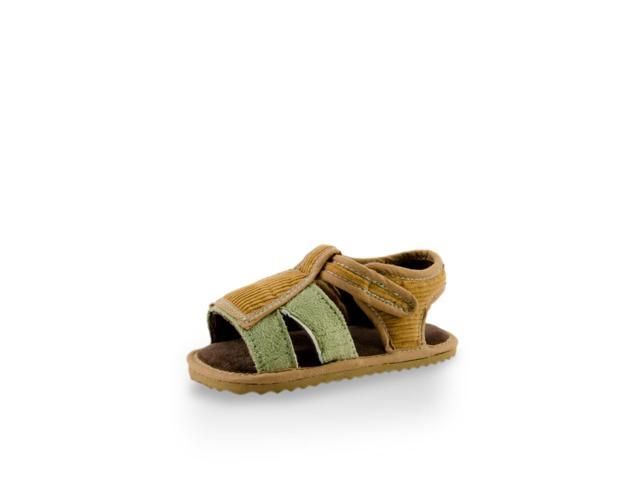 Casual Brown Canvas Kid T-strap sandal