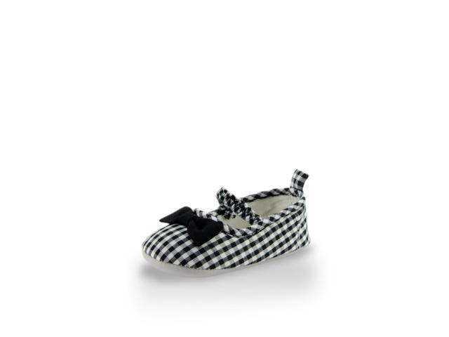 Baby Girl Classic Black Checker Flat Training Shoe By Twinkie