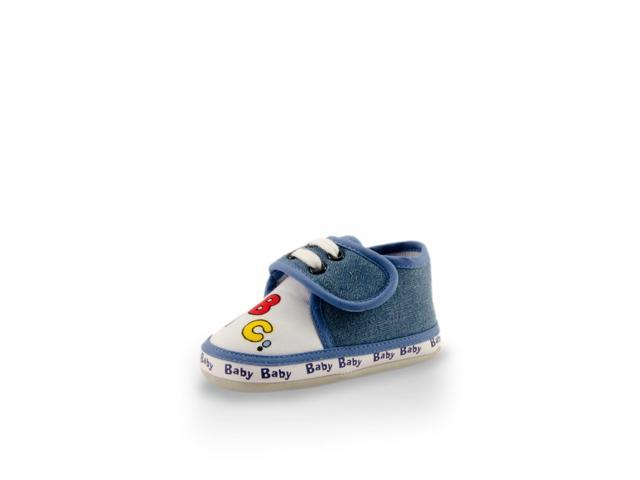 My First ABC Cute Soft Soles Baby Training Crib Shoes (Infants/Toddlers) Blue