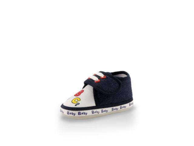 My First ABC Cute Soft Soles Baby Training Crib Shoes (Infants/Toddlers) Navy Blue