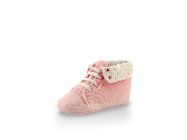 Adorable Light Pink High Cuff Fuzzy Mini Training Shoe By Twinkie