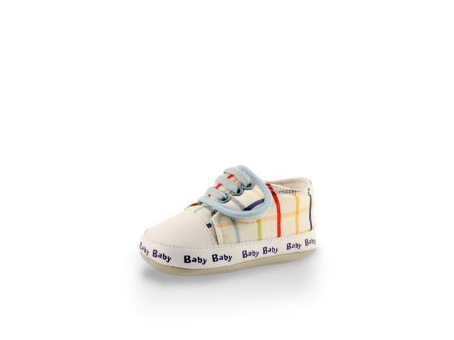 Baby's First Step White Striped Checkers Mini Training Shoe