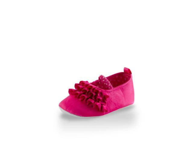 Baby Girl Elegant Ruffled Little Princess Training Shoe By Twinkie Pink