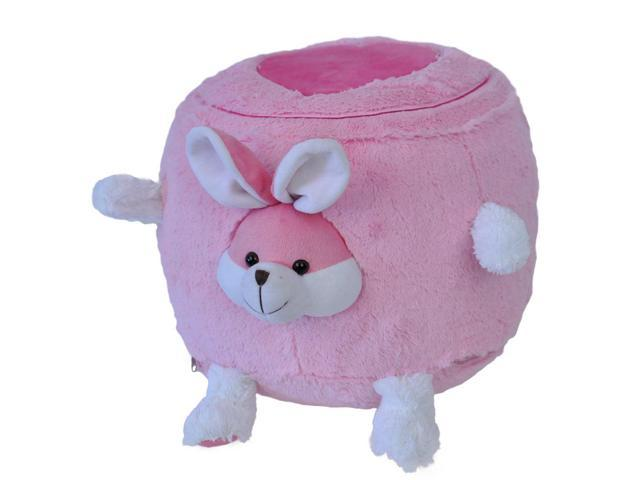 Pink Bunny Inflatable Stool