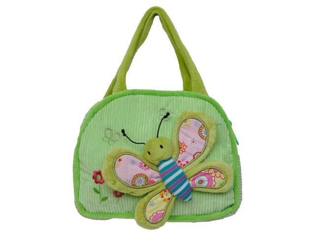 Girls 3D Butterfly Design Shoulder Handbag Green