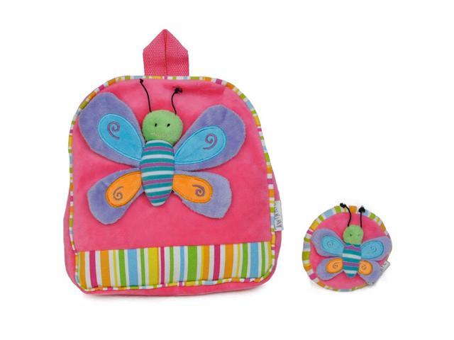Girls Bright Butterfly Patch Backpack Pink