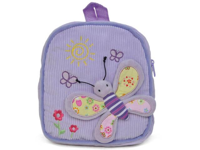 Girls 3D Butterfly Design Backpack Purple