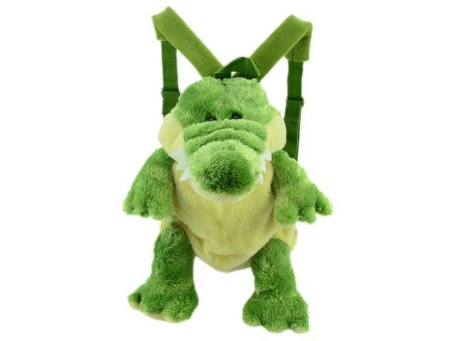Green Fuzzy Carl The Crocodile Design Backpack