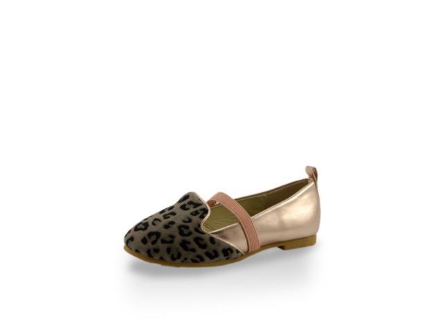 Toddler Girls' Leopard Print Shoe Toe Flats