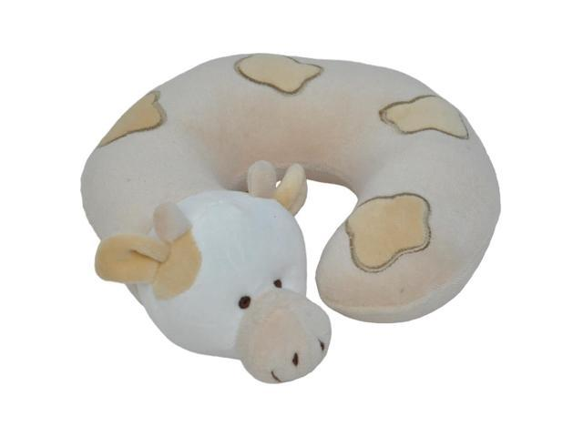 Small Beige Cow Neck Pillow