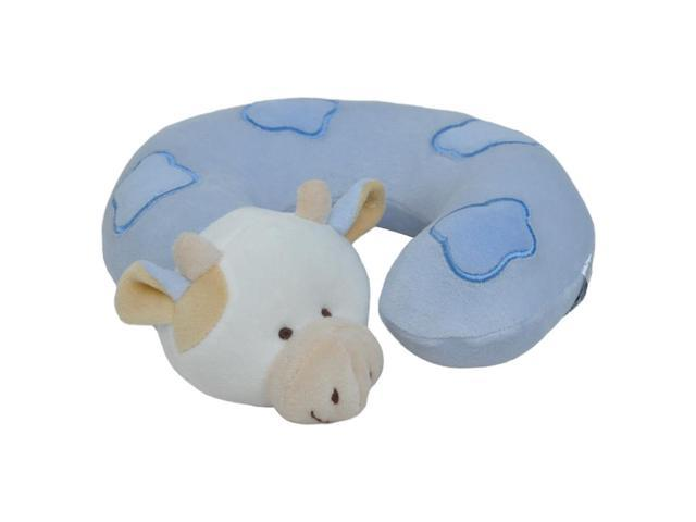 Small Blue Cow Neck Pillow