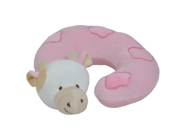 Small Pink Cow Neck Pillow