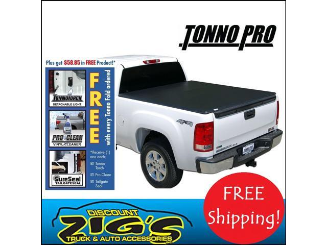 TonnoPro Tri-Fold Tonneau Cover for 09-14 Ford F-150 8' Bed w/out Utility Track